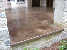 Stained concrete patio take a look at this patio concrete stain patio concrete stain ideas home Back Patio, Backyard Patio, Small Patio, Pavers Patio, Patio Grill, Patio Plants, Pergola Patio, Diy Patio, Patio Chairs