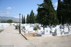 Paraia cemetery, near Thessaloniki in northern Greece, where a woman was allegedly buried ...