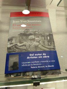 """""""El uso de las ruinas"""" de Jean-Yves Jouannais. Acantilado."""