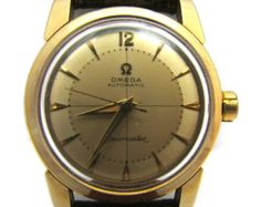 c4cc0a1eb OMEGA Seamaster Men's Watch Vintage Automatic 14K Gold Filled and Stainless  Steel Watch Omega Seamaster Men