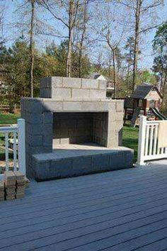 14 Brilliant DIY Projects Using Cinder Blocks To Perfectly Compliment Any Backyard Update your outdoor living space with these 14 easy cinder block outdoor crafts. They are inexpensive, crafty, and will liven up any space that needs color. Diy Outdoor Fireplace, Outside Fireplace, Backyard Fireplace, Diy Fireplace, Backyard Patio, Backyard Landscaping, Fireplace Seating, Craftsman Fireplace, Outdoor Stove