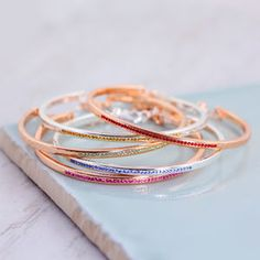 Crystal Birthstone Bangle - gifts for her sale