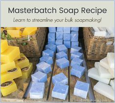 Masterbatch is an easy way to speed up your soap making, or just about any other craft project process. Learn how to masterbatch the soap making process. #TheFineArtofCandleMaking