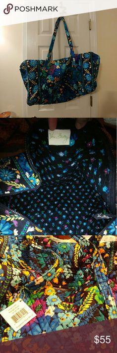 Vera Bradley duffel Brand new with tags large duffel bag from Vera Bradley. Pattern is Midnight Blues. Vera Bradley Bags