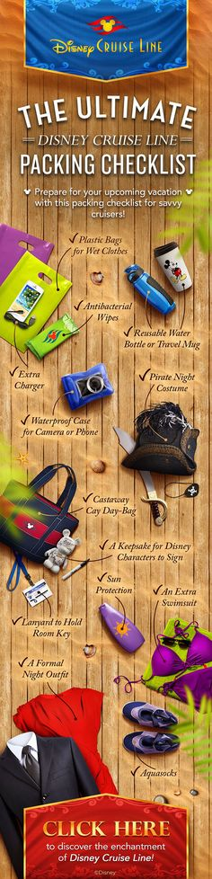 Prepare for your upcoming Disney cruise with this packing checklist for the savvy cruiser! Prepare for your upcoming Disney cruise with this packing checklist for the savvy cruiser! Cruise Travel, Cruise Vacation, Disney Vacations, Cruise Tips, Cruise Packing, Disney Travel, Family Vacations, Vacation Destinations, Bahamas Cruise