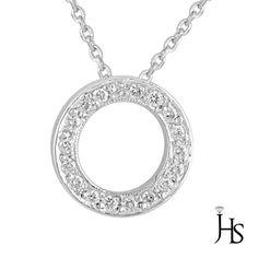 "18K White Gold 0.25 CT G-H/VS1 Round Diamond Circle of Life Pendant/Necklace 18"" #WomensCircleofLifePendantJewelryHotspot"