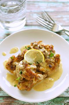 Crockpot Chicken Thighs With Creamy Lemon Sauce Crockpot Gourmet