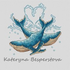 "Cross stitch design ""The heart of the sea"" Designer – Besperstova Katerina The size of the embroidery: crosses Number of colors: 180 basic colors and Easy Cross Stitch Patterns, Simple Cross Stitch, Cross Stitch Designs, Cross Stitching, Cross Stitch Embroidery, Embroidery Patterns, Crochet Patterns, Back Stitch, Mosaic Designs"