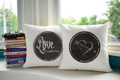Love is Spoken Here Pillows -lovely  Housewarming gif