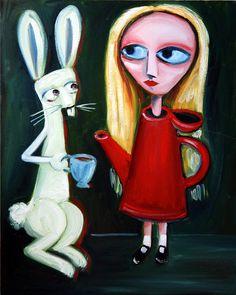 Alice A Tea Pot Painting  - Alice A Tea Pot Fine Art Print