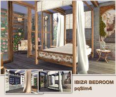 Ibiza Bedroom at pqSims4 via Sims 4 Updates