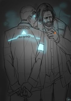 Detroit become human Connor and Hank By: @anto_exe