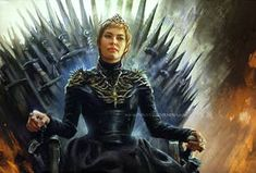 Awesome fanart of Cersei Lannister from HBO show Game Of Thrones done by artist Inna Vjuzhanina Art Game Of Thrones Queen, Game Of Thrones Art, Casterly Rock, Cersei Lannister, Daenerys Targaryen, Brienne Of Tarth, The North Remembers, Mother Of Dragons, Cosplay