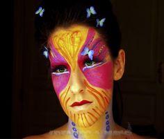 #maquillaje para #carnavales #mascara fantasia 1