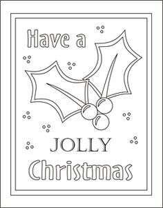 christmas coloring cards for kids printable free coloring cards holly christmas coloring pages