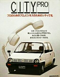Honda City Pro Retro Cars, Vintage Cars, Classic Japanese Cars, Kei Car, Japanese Domestic Market, Honda City, Honda Motors, Honda Jazz, Car Brochure