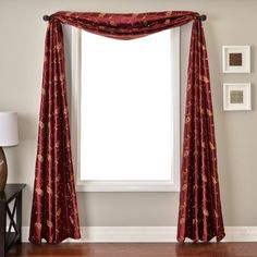 Softline Home Fashions Mattie 6 Yard Scarf in Merlot Window Scarf, Cool Curtains, Shades Blinds, Yard, Windows, House Styles, Home Decor, Products, Fashion