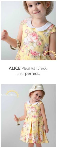 Make a perfect vintage dress for your girl. It's one of the best and cutest girl's vintage style dresses I've seen so far. (And just now, you still have time to grab the Alice at 40% off. Affiliate link.) Check it out right now at Bella sunshine Designs!