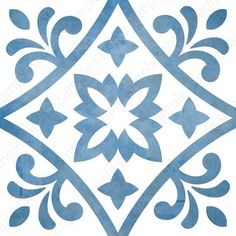 Digital tiles, Blue and white ornate wall decor, printable geometric wall art, tile pattern prints square each, DIY geo home decor Motif Baroque, Geometric Wall Art, Wall Art Sets, Tile Art, Tile Patterns, Printable Wall Art, Printable Stencil Patterns, Original Art, Victorian Fabric