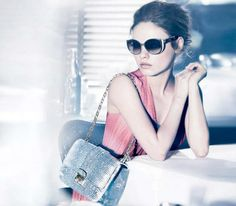 """Mila Kunis stars in Dior's """"Summerset"""" eyewear campaign looking like the foxy lady she is in two-tone sunnies"""