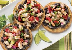 Colorful, protein-packed Shrimp Tostadas