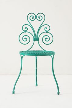 Pretty Bistro Chair in Turquoise---going to paint my patio furniture this color to get ready for summer :)