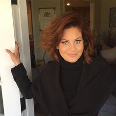 Love the cut and color Candace Cameron Bure Family, Candice Cameron Bure, Textured Bob Hairstyles, Cool Hairstyles, Hairstyle Ideas, Dj Tanner, Strawberry Blonde, Stylish Hair, Great Hair