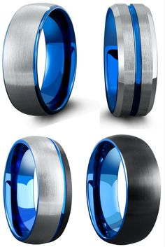 Modern mens wedding rings. Crafted from tungsten carbide. These mens rings are designed with comfort fit and can withstand any conditions.