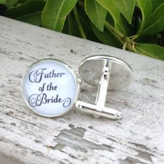 Father of the Bride Wedding Party Cuff links by OverTheMoonBridal