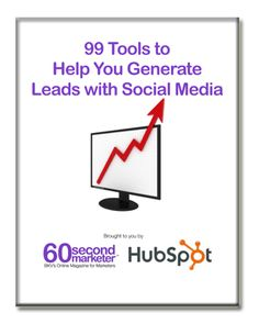 99 Tools to Help you generate Leads with Social Media  http://www.hubspot.com/free-ebook-99-tools-to-generate-leads-with-social-media/