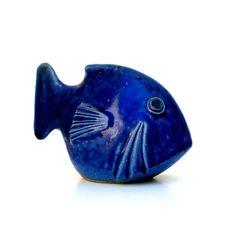 Blue Ceramic Fish    Fish Ornament   Marine Decor by jorgemealha, €35.50