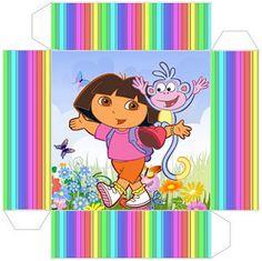 Dora the Explorer: Free Printable Party Boxes. Party Printables, Free Printables, Paper Box Template, Box Templates, Dora And Friends, Printable Box, Dora The Explorer, Party In A Box, Blogger Templates