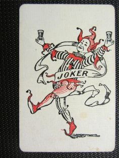 RARE Seppelts Wine Joker Single Playing Card   eBay Joker Playing Card, Joker Card, Playing Cards, Swamp Thing, Collectible Cards, How To Get Away, Jokers, The Fool, Decks