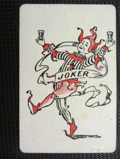 RARE Seppelts Wine Joker Single Playing Card | eBay