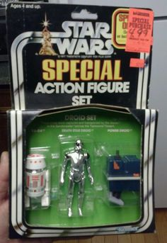 STAR WARS 1979 DROID SET OF 3 PACK SPECIAL FIGURE NEW IN BOX  VERY RARE!!!!!!