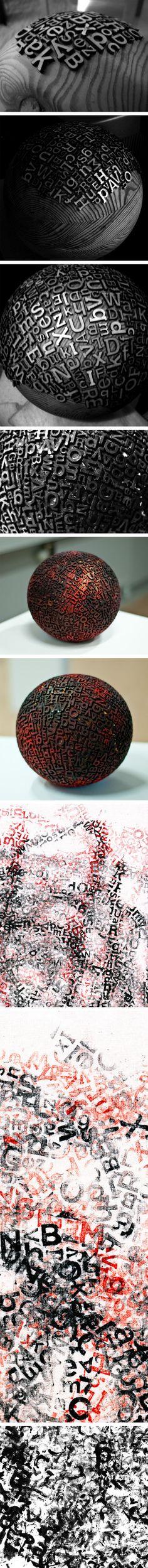sphère typographique  - Eric Calderon