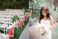Charming Calamigos Ranch Wedding florals by http://frenchbuckets.com/