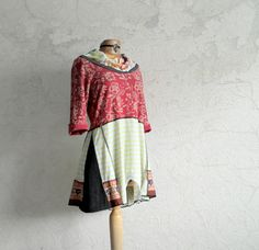 Hey, I found this really awesome Etsy listing at https://www.etsy.com/listing/215104285/red-lagenlook-top-cowl-neck-wearable-art