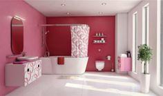 Pinke Wandfarbe – Wie können Sie Ihre Wände kreativ streichen? - pinke wandfarbe wandfestaltung badezimmer bad wände streichen