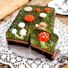 Musrooms made in Jell-o - Cupcakes Cupcakes, Cupcake Cookies, How To Make Gelatin, Desserts Printemps, Mushroom Cake, 3d Jelly Cake, Jelly Desserts, Spring Desserts, Jell O