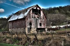 Old Barn at the base of the Loess Hills in SW Iowa