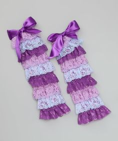 Another great find on #zulily! Purple Lace Ruffle Leg Warmers by Whitney Elizabeth #zulilyfinds