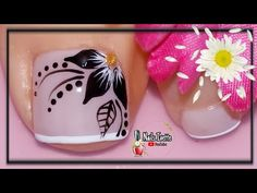 Toe Nail Color, Toe Nail Art, Nail Colors, Cute Pedicure Designs, Toe Nail Designs, Blue Acrylic Nails, Pink Nail Art, Feet Nail Design, Cute Pedicures