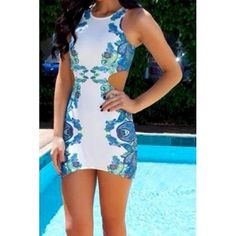 Sexy Sleeveless Scoop Neck Floral Print Hollow Out Dress For Women blue white (Sexy Sleeveless Scoop Neck Floral Print Hollow Out Dress) by http://www.irockbags.com/sexy-sleeveless-scoop-neck-floral-print-hollow-out-dress-for-women-blue-white