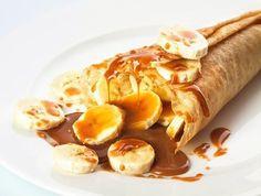 Banana and caramel crepe