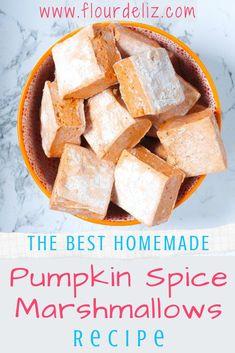 Marshmallow Recipes, Gourmet Marshmallow, Flavored Marshmallows, How To Make Marshmallows, Recipes With Marshmallows, Orange Food Coloring, Dairy Free, Gluten Free, Sin Gluten