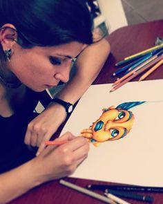 "Contraste Naranjo & Azul ""La vida con Gatos"" Fashion Art, Style Me, Contrast, My Arts, Illustration, Painting, Inspiration, Blue Nails, Gatos"