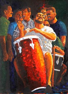 Puerto Rican Music, Latino Artists, Puerto Rico History, Puerto Rican Culture, Porto Rico, Music Illustration, Caribbean Art, Salsa Dancing, Afro Art