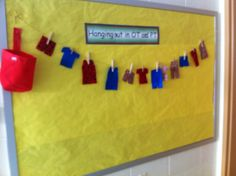 OT bulletin board that also doubles as a fine motor task! Take the clothes off and on the line.