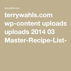 Lots of Whals protocol recipes